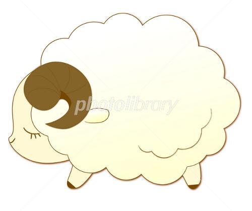 眠そうなひつじ イラスト素材 1649809 フォトライブラリー