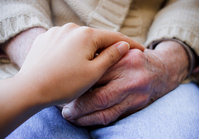 The hands of caring and senior hands Stock photo [1639235] Zinnia