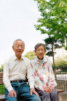 Senior couple lined up with a smile Stock photo [1640634] Zinnia