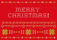 Cross stitch style Christmas card [1642173] Cross-stitch