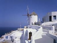 Santorini island of white houses and windmills Stock photo [1643102] Santorini