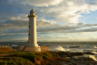 Sea rough and sunset hit field Kanzaki Lighthouse Stock photo [1648603] At