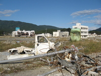 Tohoku region Pacific Ocean earthquake Rikuzentakata damage Stock photo [1649362] Great
