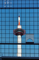 Kyoto Tower reflected in the station building Stock photo [1821232] Kyoto