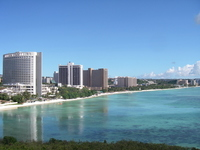Guam, Tumon Beach Hotel group from Nikko Hotel Stock photo [1823010] Guam