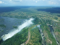 Victoria Falls from the sky Stock photo [1928316] Victoria