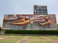 Siqueiros of three-dimensional mural Stock photo [1931544] Siqueiros