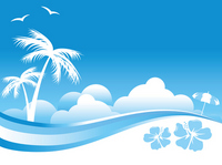 Summer sea background template [2035979] Summer