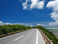 Miyako Island of coastal road Stock photo [2041443] Road