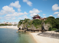 Shrine is located on top of the cliff Stock photo [2042733] Naminoue