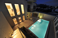 Private pool sunset Stock photo [2042904] House