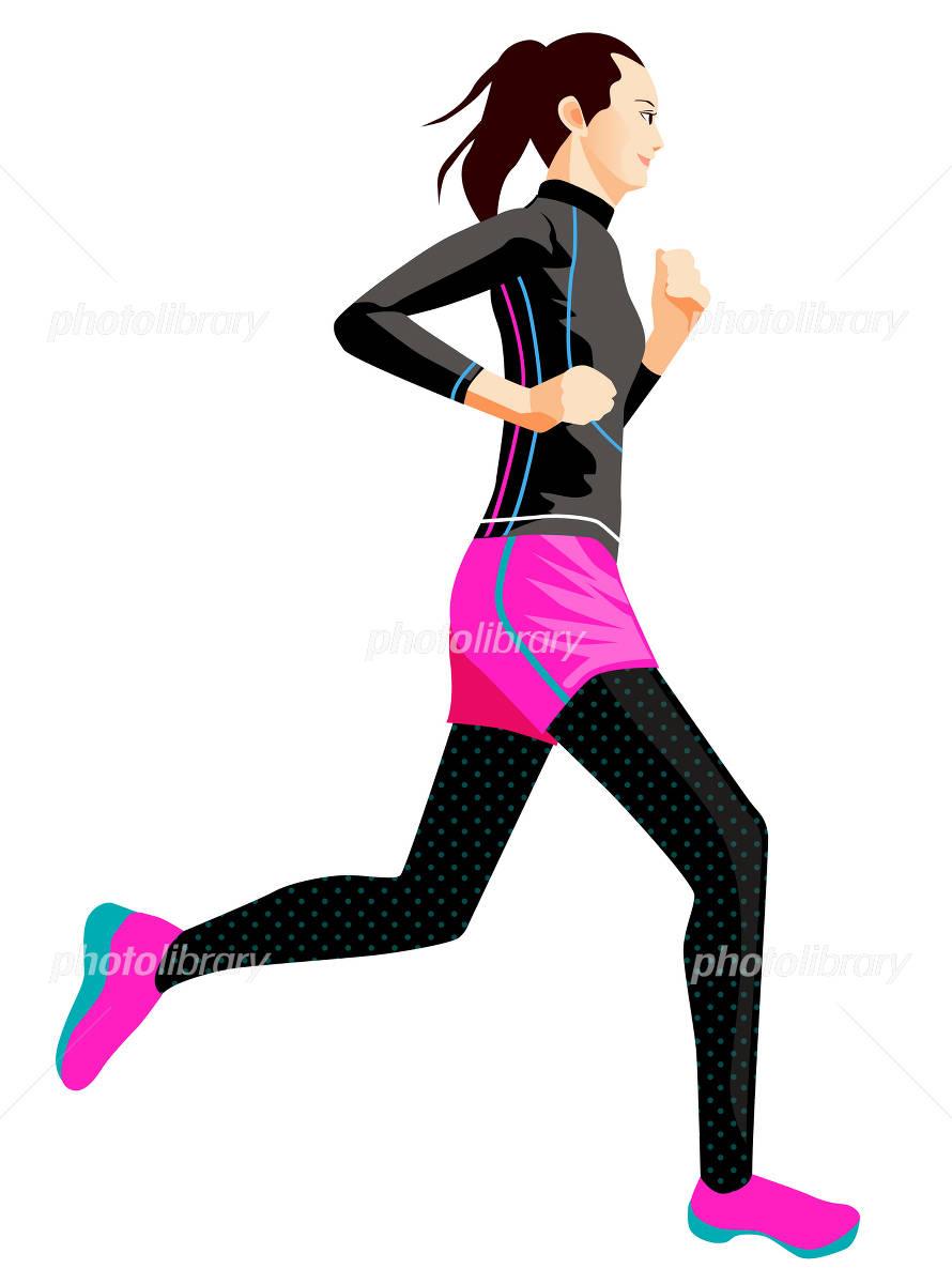 女性ランナーのイラスト