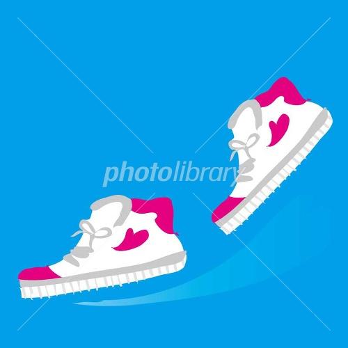 ランニングの運動靴のイラスト ...