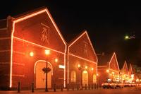 Hakodate Kanamori warehouse of night view Stock photo [2132864] Hokkaido