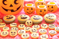 Halloween cupcakes and cookies Stock photo [2142050] Halloween