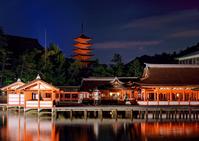 Light-up of Itsukushima Shrine Stock photo [2146959] Itsukushima