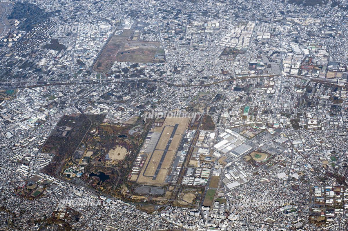 立川飛行場 空撮 写真素材 [ 2258628 ] - フォトライブラリー photolibrary