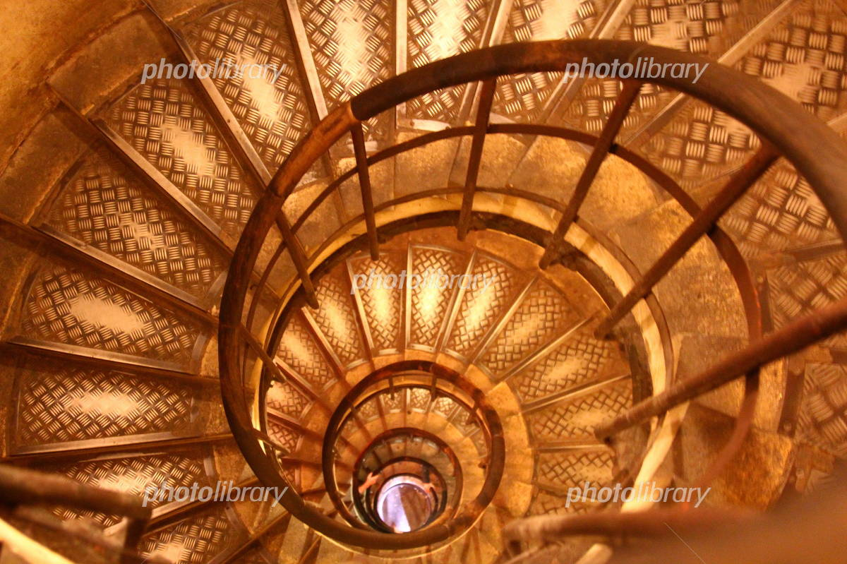 Spiral staircase Arc de Triomphe in France Photo
