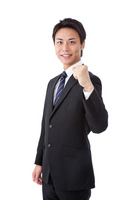 Young businessman to the guts pose Stock photo [2250084] Businessman