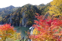 Hōheikyō Dam autumn colors of autumn Stock photo [2251753] Sapporo-Shi