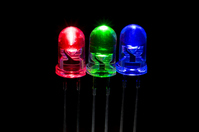 LED three primary colors swatch of black back Stock photo [2254157] LED