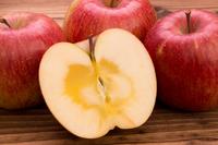 Honey containing Fuji Apples stock photo