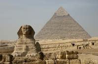 Sphinx and the Pyramid of Khafre Stock photo [2255889] Egypt