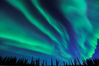 Aurora spread throughout the sky Stock photo [2257735] Aurora