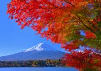 Landscape from Kawaguchiko shores stock photo