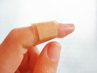 Finger wrapped a bandage Stock photo [2261083] Adhesive