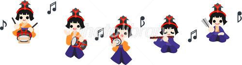 ひな祭り 五人囃子 イラスト素材 2377399 フォトライブラリー