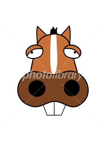 ファニーフェイスの馬イラスト イラスト素材 2381049 フォトライブ