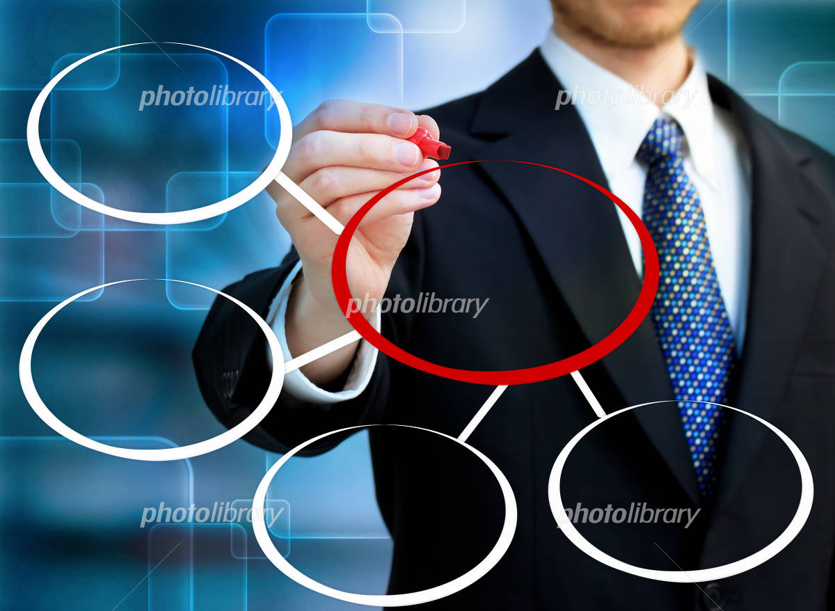 Businessman and chart Photo
