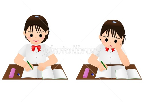 勉強 女の子 夏-写真素材  勉強 女の子 夏 画像ID 2384975  勉強 女の子 夏