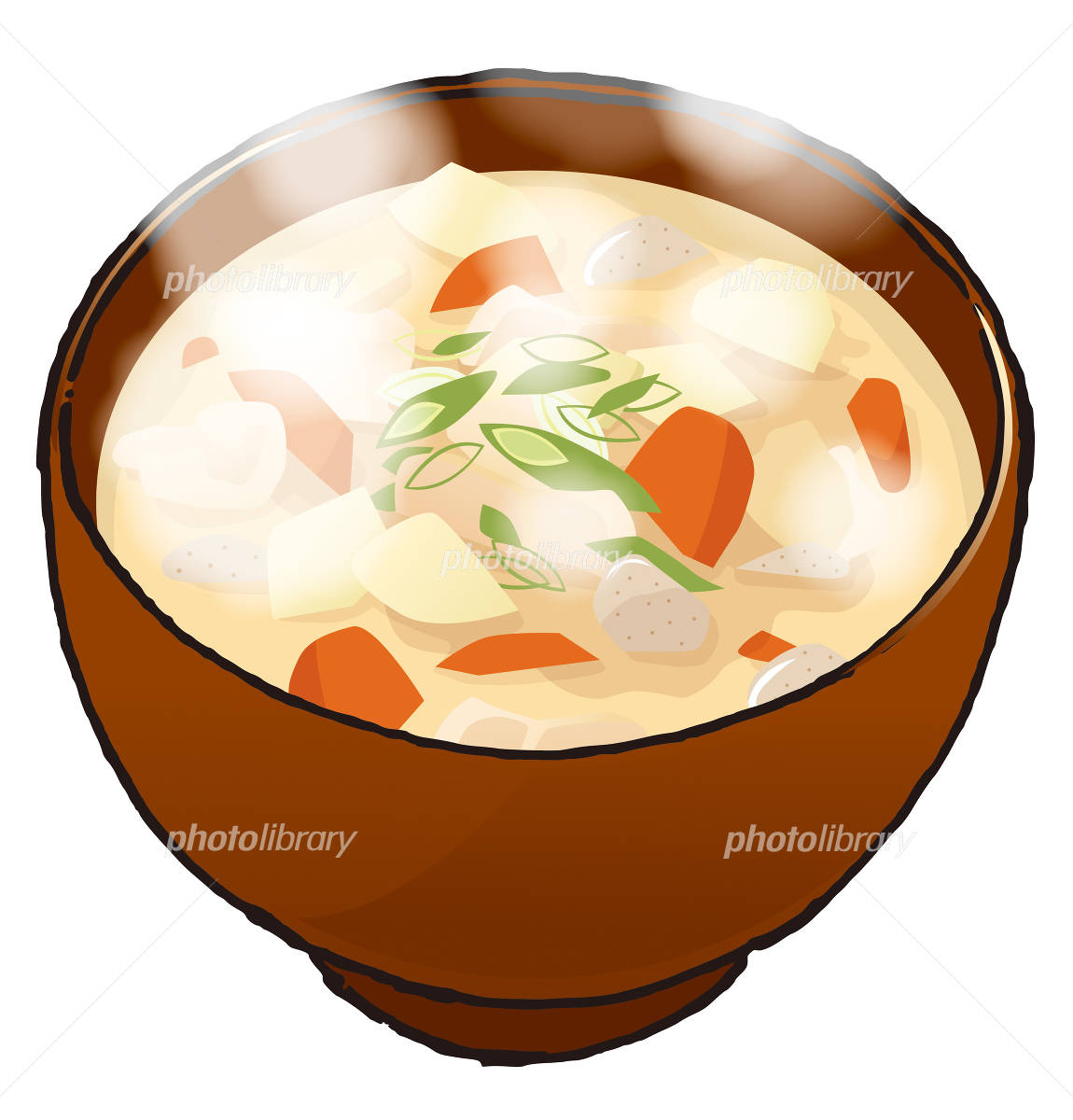 豚汁湯気ありイラスト イラスト素材 2388298 フォトライブ