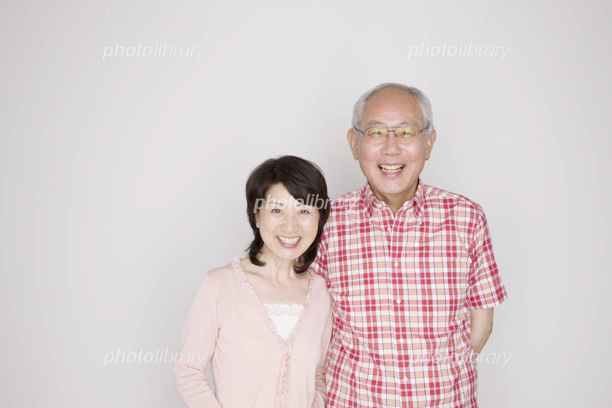 Snuggled to have elderly couple Photo