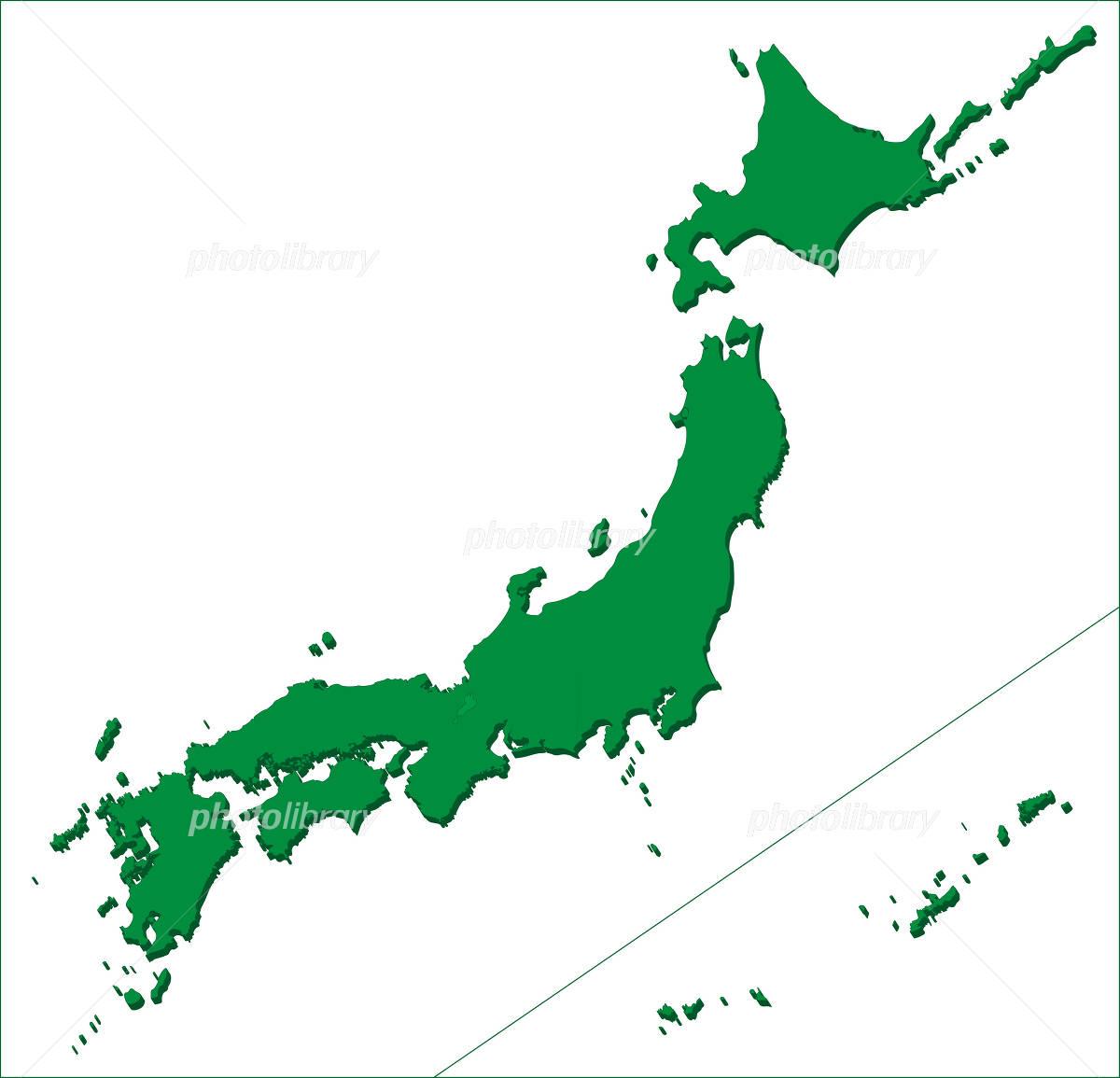 3D map of Japan イラスト素材