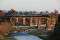 Ban'etsu West Line Ichinohe bridges and C57 Stock photo [2377416] Railway