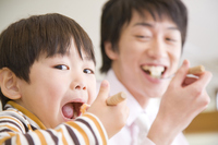 Father and son have a meal Stock photo [2378350] 2