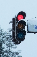 Snow Country vertical signal machine Stock photo [2379379] Traffic