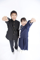 Junior high school men and women to the guts pose Stock photo [2384290] 10