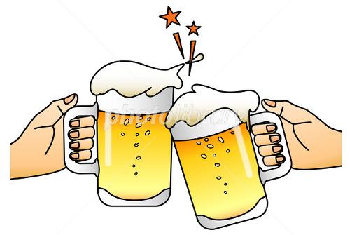 ビールで乾杯 イラスト素材 2502016 フォトライブラリー Photolibrary