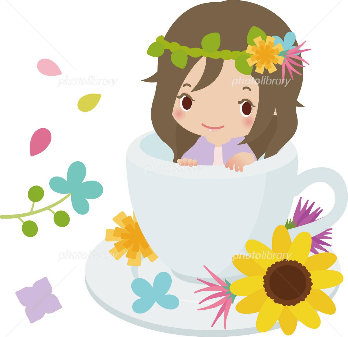 珈琲カップの中の女の子 イラスト素材 2508732 フォトライブラリー