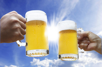 Cheers with beer in the summer Stock photo [2505598] Beer