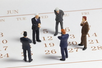 Calendar and businessman Stock photo [2506206] Calendar