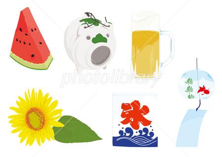 夏の風物詩 イラスト素材 2624154 フォトライブラリー Photolibrary