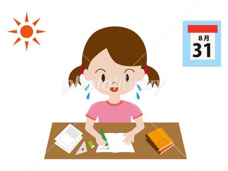 子供 宿題 夏休み 勉強 自由研究 イラスト素材 2634495 フォト