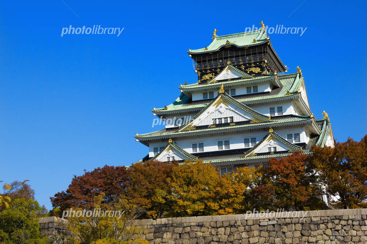 Osaka Castle castle tower Photo