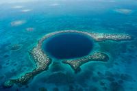 Belize Blue Hole stock photo