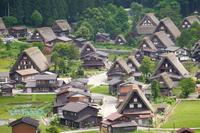World heritage Shirakawa-go stock photo